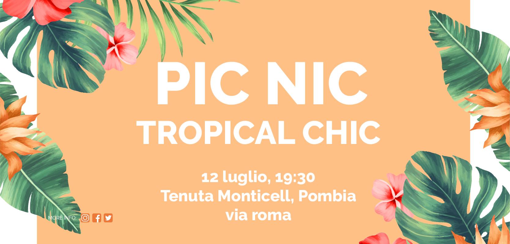picnic tropical chic
