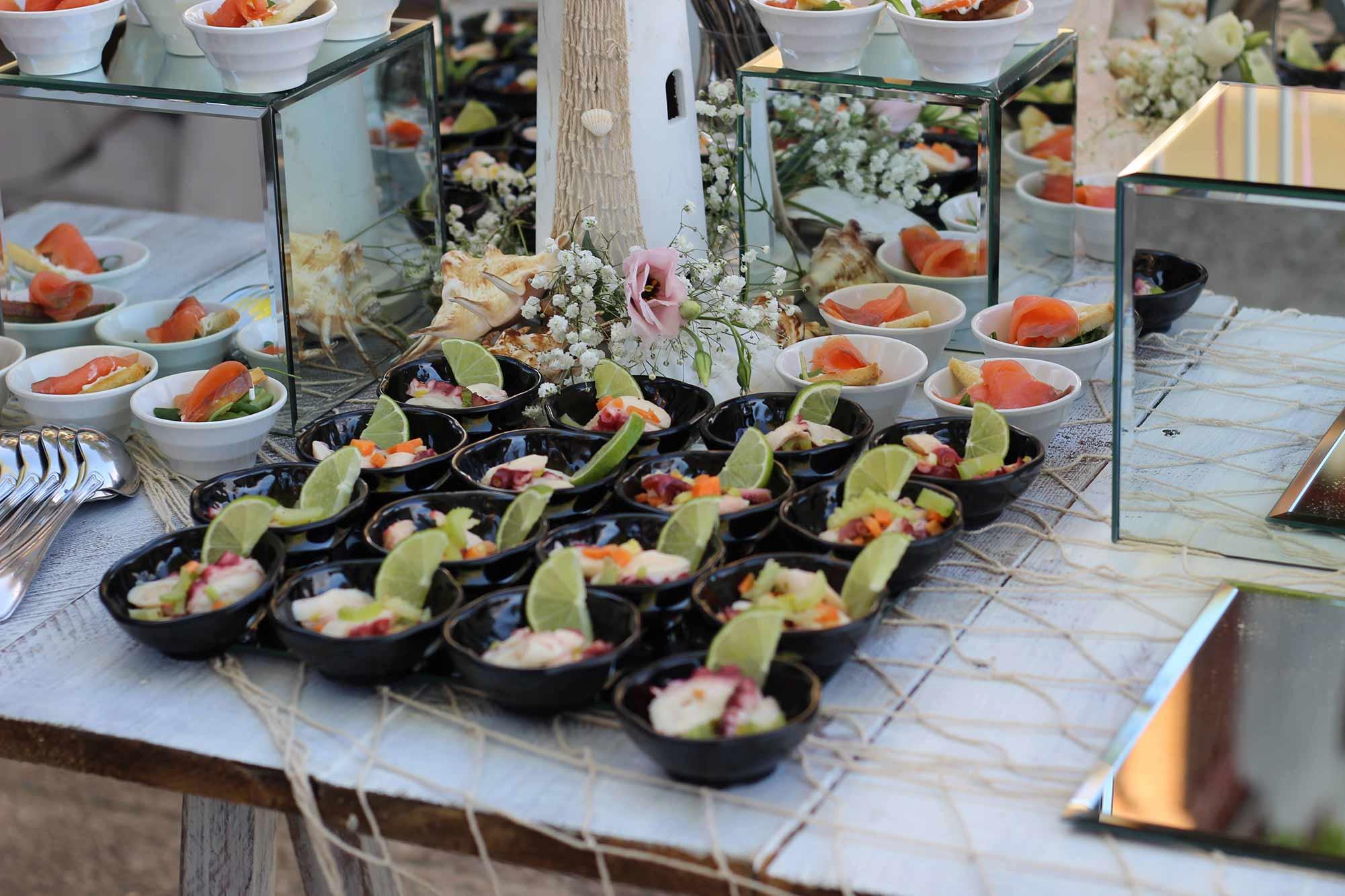 Isola dei fingerfood di pesce